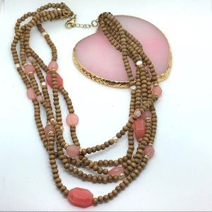Beautiful Fall Necklace with Stones
